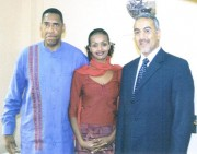 "Anthony ""Amp"" Elmore travel to Kenya in January of 2005. He stopped by the office of Najib Balala to thank him for come to Memphis in April of 2004."